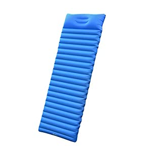 4151B6jrN8L. SS300  - iNeibo Ultralight Self Inflating Sleeping Pad with Free Pump Pillow - Inflatable Mat Air Mattress for Backpacking, Camping and Hiking, Easy to Carry and Fast Inflate (Blue)