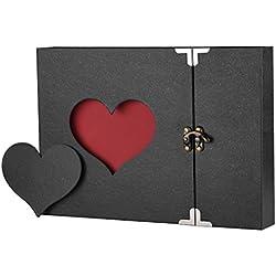 Álbum de fotos corazón. Regalos San Valentín baratos. 60 páginas.