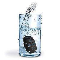 مشغل MP3 مقاوم للماء IPX8 سعة 8 جيجابايت مشغل موسيقى مع مشبك سماعات رأس مصمم للسباحة والجري والغطس باللون الأسود