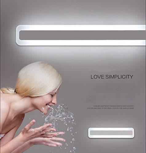GSZHY Wandleuchte En Suite Waschbecken, LED-Beleuchtung Lampe mit Wasser Beweis der Bad Spiegel, Roomdresser Eitelkeit Lampe,Warmes Weiß-120 cm