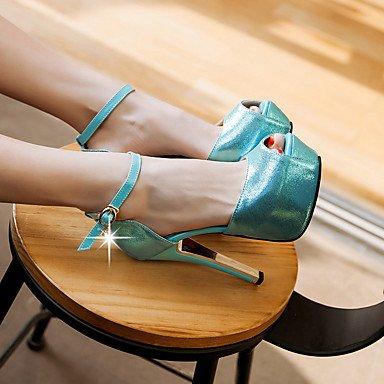 LvYuan Damen-Sandalen-Büro Kleid Party & Festivität-PU-Stöckelabsatz-Andere-Blau Gold Blue