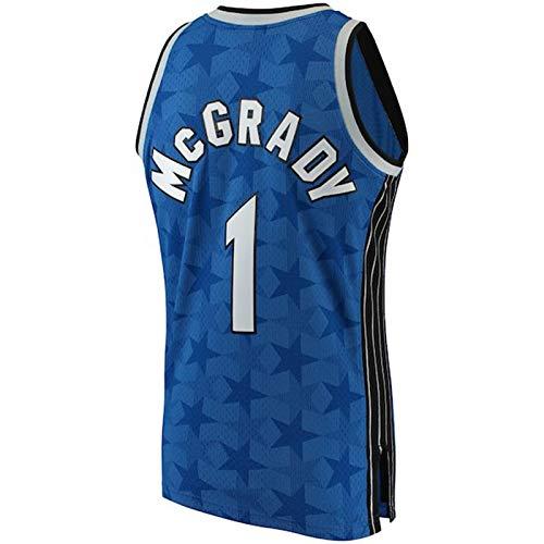 ZAIYI-Jersey Herren Basketball Trikot -Tracy McGrady # 1-Orlando Magic- Retro Swingman Jersey Ärmelloses Shirt (Color : B, Size : L)