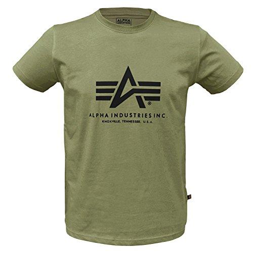 Alpha Ind. Basic T-Shirt Oliv - XXL