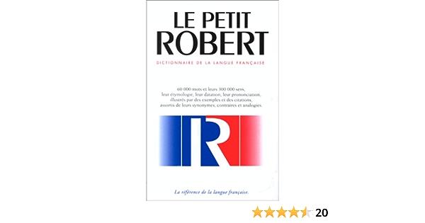 Buy Le Nouveau Petit Robert Dictionnaire Alphabetique Et Analogique De La 1 Book Online At Low Prices In India Le Nouveau Petit Robert Dictionnaire Alphabetique Et Analogique De La