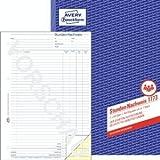 Avery Zweckform 5 x Formularbuch Stunden-Nachweis A4 selbstdurchschreibend 2x40 Blatt