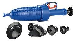 AGT Rohrfrei: Pressluft-Rohrreiniger 3,5 bar mit 4 Aufsätzen für alle Abflüsse (Abfluss frei)