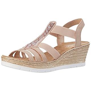 Rieker 61913, Women's Closed Toe Sandals, Multicolored (Altrosa / 31), 6.5 UK (40 EU)