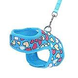 Jiacheng29 Hundegeschirr, mit Herzmotiv, für Hunde und Katzen, Sicherheitsgurt