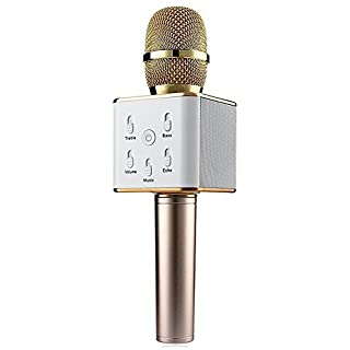 Haehne Q7 Tragbare Drahtlose Bluetooth Karaoke KTV Dynamische Mikrofone Handheld Stereo HiFi Lautsprecher für Smartphone, Tablette, Computer