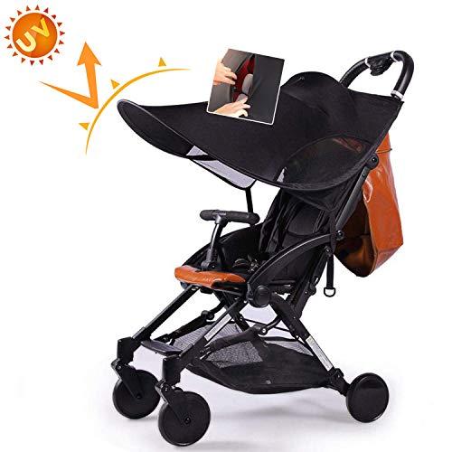 AUVSTAR Baby Buggy Sun, Kinderwagen, Infant Kinderwagen Sonnensegel Baby Buggy schwarz Sun Shield, Sun Shield, Baby Buggy Autositz hat Ausgezeichneter UV-Schutz, sitable für Outdoor Reisen (Schwarz2)