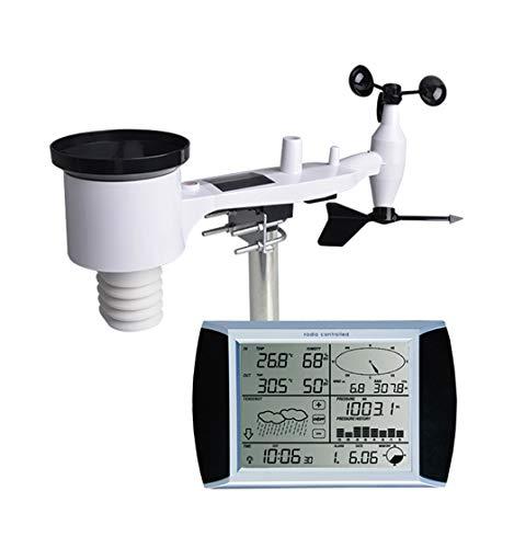 JAY-LONG Touchscreen Wetterstation/Temperatur Luftfeuchtigkeit Thermometer Digitalanzeige Windgeschwindigkeit Windrichtung Außen