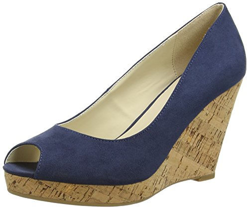 Another Pair of Shoes WeraaK1, Damen Durchgängies Plateau Sandalen, Blau (denim blue675), 40 EU (Denim Sandalen Blau)
