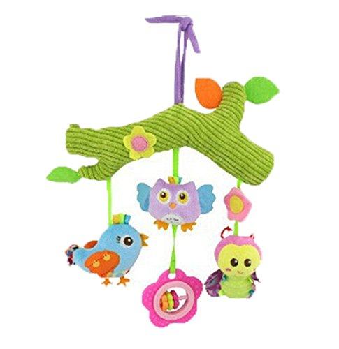 Lalang Mehrfarbig Baby Plüschtiere, Kleinkindspielzeug,Beschwichtigen Schlaf Spielzeug,Kinderwagen, der Spielzeugauto-Drehmaschine hängenden Baby Rasseln (Bauernhof)