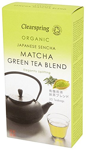 Clearspring Organic Sencha Matcha Green (Pack of 1, 20 Teabags)