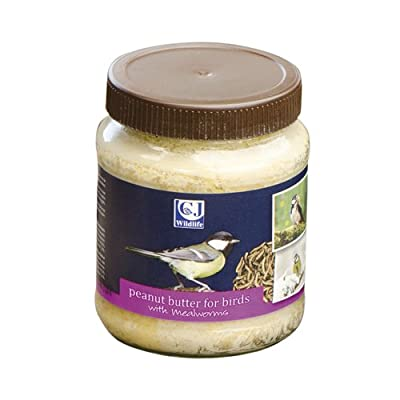 Cj Peanut Butter For Birds Mealworms 330g (Pack of 8) by C J Wildbird Foods