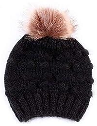 PeHtion Cappello Bambino Inverno con Pom Pom Caldo Antivento Beanie Hat  Berretti in Maglia Unisex per Bambini… 118b6aa0d0b8