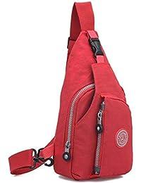 Red : Kolylong Fashion Women Handbag Shoulder Bag Large Tote Ladies Chest Pack Bag Climbing Bag (Red)