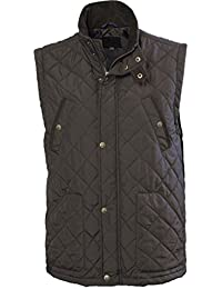 VEDONEIRE Mens Quilted Gilet (3033 GREEN) padded sleeveless vest