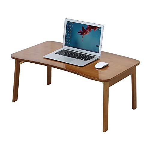 YANFEI Fester hölzerner Faltbarer Laptop-Schreibtisch, Erker-Schreibtisch, fauler Kleiner Tisch, Studenten-Schlafsaal-Studien-Schreibtisch. (größe : 80 * 50 * 34cm) (Runde Tisch Für Studie Studenten)