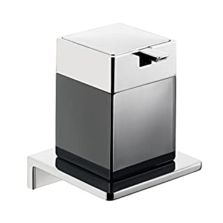 Emco 132120404 Flüssigseifenspender Asio chrom, Kristallglas schwarz