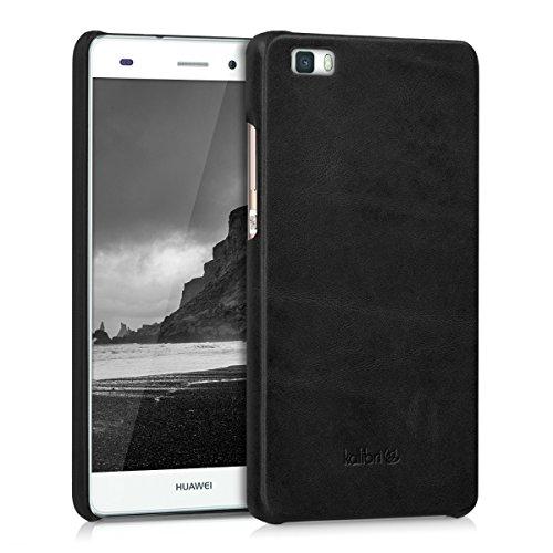 kalibri-Echtleder-Backcover-Hlle-fr-Huawei-P8-Lite-Leder-Case-Cover-Schutzhlle-in-Schwarz