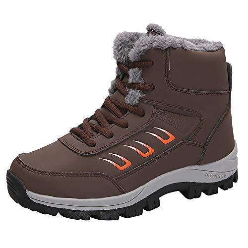 Damen Freizeitschuhe Outdoor Warm Sportschuhe halten Flache dicke untere Damen Schnee Stiefel Stiefel LANSKIRT