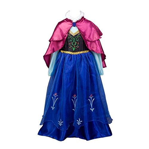 Das beste Prinzessin Anna Karneval Verkleidung Party Kleid (Baby Anna Prinzessin Kostüm)