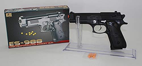 Desert Metall (KOSxBO® Airsoft Gun Set Polizei Kugelpistole inklusive Softair Munition 6mm BB - Erbsenpistole - 0,08 Joule - ab 14 Jahren)
