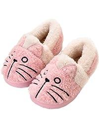 KVbaby Chausson Enfant Fille Peluche Pantoufle Fille Chausson Garçon Chaussons Hiver Antidérapants bébé Chaussures pour Femme Homme