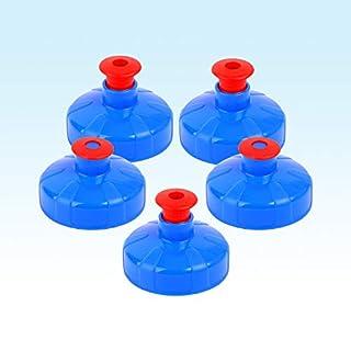 *5 raccord bouchon push pull) &de 1 l et 0,5 l alvito bouteilles tritan, eau filtrée aquadea bouchons wasser. bouchon sport