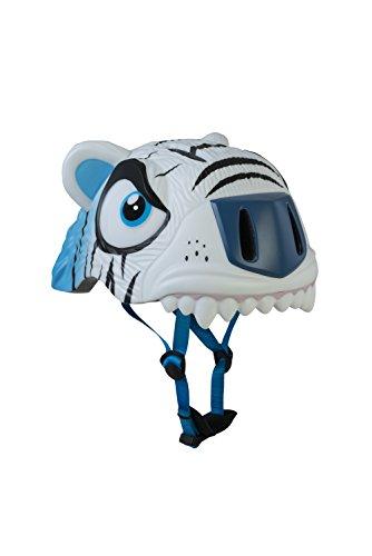 Abus Ice The Cool Tiger Casco, Infantil, (Blanc/Bleu), 49-55 cm