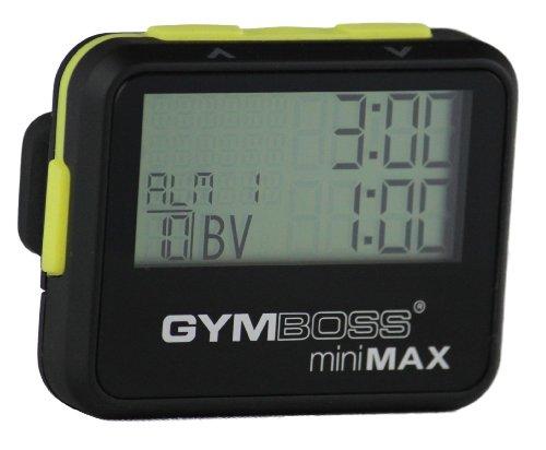 Gymboss Minimax Intervallzeitgeber Und Stoppuhr Schwarz-Gelb Softbeschichtung