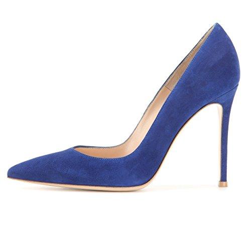 Sera Scarpe Spillo Le Blu Donna Club Cm Edefs Pompe 10 Chiuso A Sexy fwH866Iq
