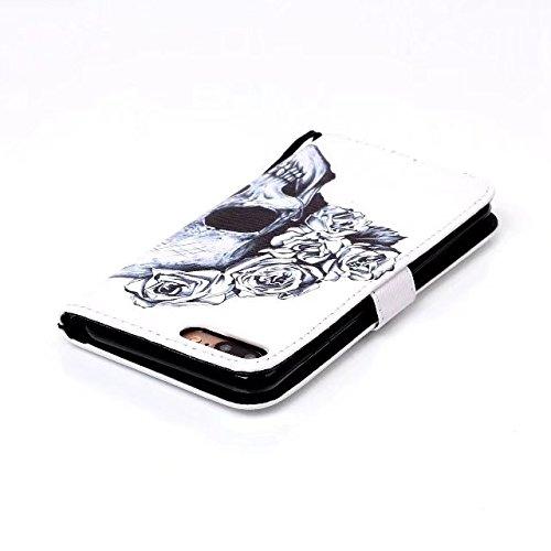 iPhone 7 Plus Hülle, iPhone 8 Plus Hülle, Valenth [Pu Leder] Geldbörse Hülle Abdeckung [Standfeder] Flip Hülle mit Kartensteckplätzen für iPhone 8 Plus / iPhone 7 Plus 3#