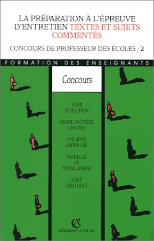 PREPARATION EPREUVE ENTRETIEN (Ancienne Edition)