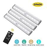 LED Unterbauleuchten, NOTENS 3 Pack Fernbedienung Küche unter Kabinettbeleuchtung Schwenkbar Lichtleiste Küchenleiste Dimmbare Timer LED Küchenleuchte Küchenlampe Schrankleuchte Schranklampe (Pure White)