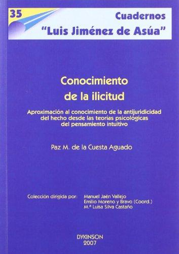 Conocimiento De La Ilicitud (Cuadernos Luis Jimnez de Asa)