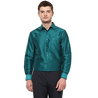 KhodayWilliams Poly Silk Shirt for Men Full Sleeves