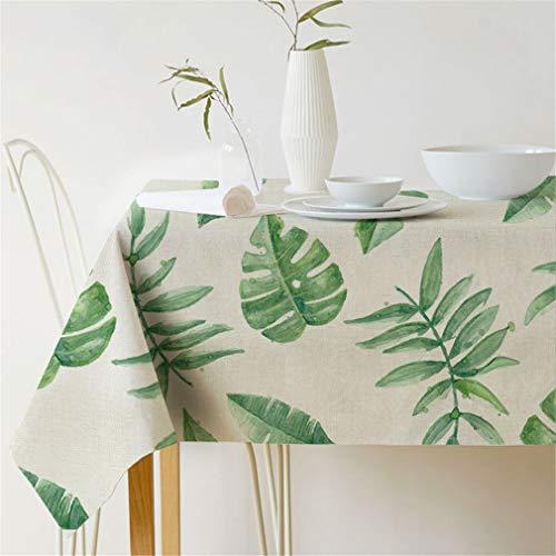 Tuhaxz Tropische Pflanzen Tischtuch Pastoralen Stil Pflanze Gedruckt Rechteckige Tischdecke Home Tisch Schutz Dekoration Tischabdeckung