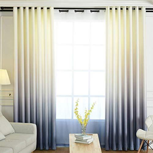 Wdxn 4 tende con occhielli-tenda a occhiello semitrasparente+tende oscuranti termiche isolanti con tenda richiudibile,gray,200 * 270