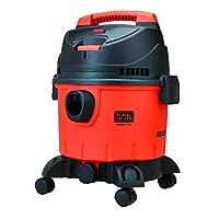 مكنسة كهربائية بخزان فارغ ومبلل سعة 10 لتر واستطاعة 1200 واط من بلاك اند ديكر، لون برتقالي واسود، موديل WDBD10-B5