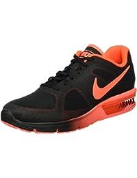 Nike Air Max Sequent Zapatillas, Hombre, Negro / Rojo, 43