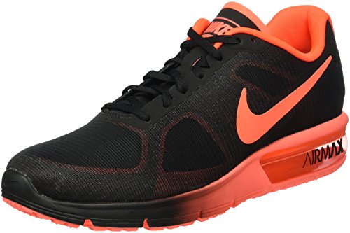 NIKE Air Max Sequent Chaussures, Homme, Noir/Rouge, 44.5
