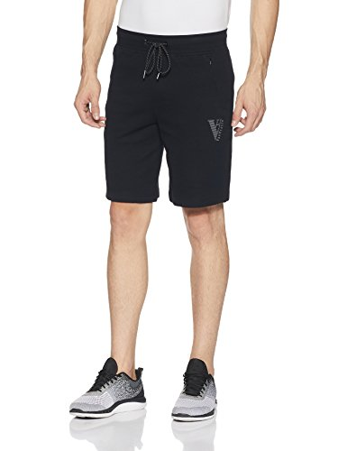 Van Heusen Men Cotton Shorts (8907670402108_50002_Large_Black)