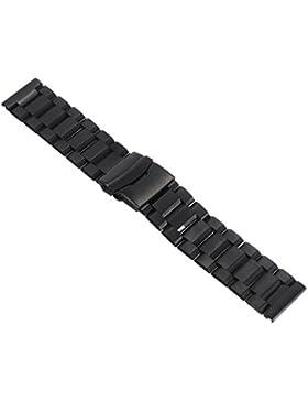 22mm Unisex Edelstahl Uhrenarmba