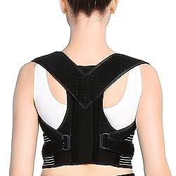 Doact Geradehalter zur Haltungskorrektur - Rücken Schulter Verstellbar Atmungsaktiv Rückenbandage Rückenhalter Haltungskorrektur für Damen und Herren M(71-89cm)