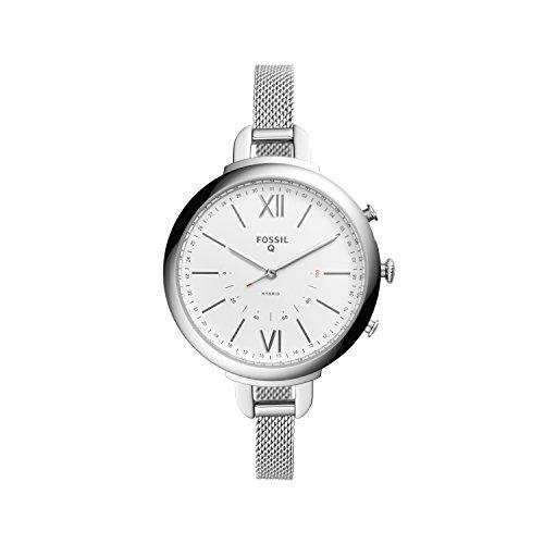 Smartwatch Híbrido Fossil Q Annette de Mujer, Caja de acero inoxidable con correa de Malla, Compatible...