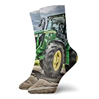 REordernow Farm Tractor Ankle Socks Casual Cozy Crew Socks For Men Women Yoga Hiking Cycling Running Soccer Sports