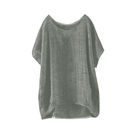 (JUTOO Dawomen Fledermaus Kurzarm beiläufige Bluse T-Shirt Pullover)