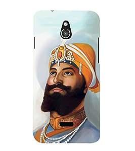 FUSON Guru Gobind Singh 3D Hard Polycarbonate Designer Back Case Cover for InFocus M2